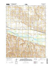 Ruthton Nebraska Current topographic map, 1:24000 scale, 7.5 X 7.5 Minute, Year 2014 from Nebraska Maps Store