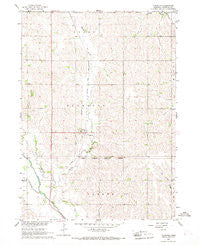 Thurston Nebraska Historical topographic map, 1:24000 scale, 7.5 X 7.5 Minute, Year 1966