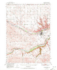 Valentine Nebraska Historical topographic map, 1:62500 scale, 15 X 15 Minute, Year 1950