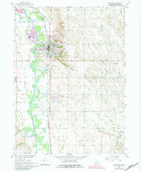 West Point Nebraska Historical topographic map, 1:24000 scale, 7.5 X 7.5 Minute, Year 1966