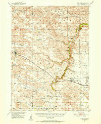 Wood Lake Nebraska Historical topographic map, 1:62500 scale, 15 X 15 Minute, Year 1950