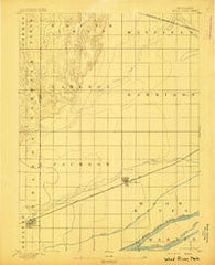 Wood River Nebraska Historical topographic map, 1:62500 scale, 15 X 15 Minute, Year 1895