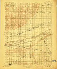 Wood River Nebraska Historical topographic map, 1:125000 scale, 30 X 30 Minute, Year 1896