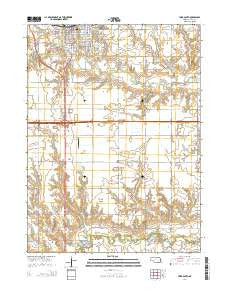 York South Nebraska Current topographic map, 1:24000 scale, 7.5 X 7.5 Minute, Year 2014