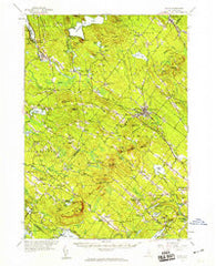 Alton New Hampshire Historical topographic map, 1:62500 scale, 15 X 15 Minute, Year 1957