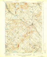 Alton New Hampshire Historical topographic map, 1:62500 scale, 15 X 15 Minute, Year 1919