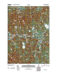 Andover New Hampshire Historical topographic map, 1:24000 scale, 7.5 X 7.5 Minute, Year 2012