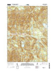 Andover New Hampshire Current topographic map, 1:24000 scale, 7.5 X 7.5 Minute, Year 2015