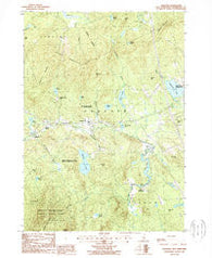 Andover New Hampshire Historical topographic map, 1:24000 scale, 7.5 X 7.5 Minute, Year 1987