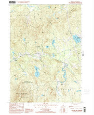 Andover New Hampshire Historical topographic map, 1:24000 scale, 7.5 X 7.5 Minute, Year 1998