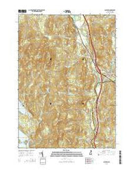 Ashland New Hampshire Current topographic map, 1:24000 scale, 7.5 X 7.5 Minute, Year 2015