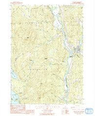 Ashland New Hampshire Historical topographic map, 1:24000 scale, 7.5 X 7.5 Minute, Year 1987