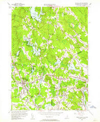 Ayers Village New Hampshire Historical topographic map, 1:24000 scale, 7.5 X 7.5 Minute, Year 1955