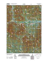 Bartlett New Hampshire Historical topographic map, 1:24000 scale, 7.5 X 7.5 Minute, Year 2012