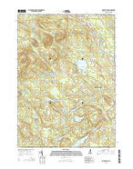 Baxter Lake New Hampshire Current topographic map, 1:24000 scale, 7.5 X 7.5 Minute, Year 2015 from New Hampshire Map Store