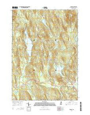 Canaan New Hampshire Current topographic map, 1:24000 scale, 7.5 X 7.5 Minute, Year 2015 from New Hampshire Maps Store