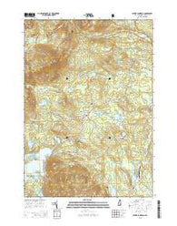 Center Sandwich New Hampshire Current topographic map, 1:24000 scale, 7.5 X 7.5 Minute, Year 2015