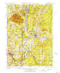 Claremont New Hampshire Historical topographic map, 1:62500 scale, 15 X 15 Minute, Year 1926