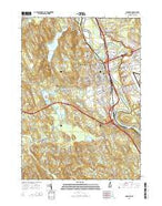 Concord New Hampshire Current topographic map, 1:24000 scale, 7.5 X 7.5 Minute, Year 2015 from New Hampshire Map Store