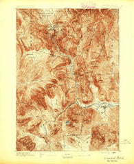 Crawford Notch New Hampshire Historical topographic map, 1:62500 scale, 15 X 15 Minute, Year 1895