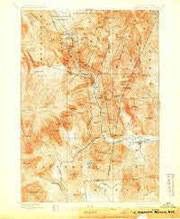 Crawford Notch New Hampshire Historical topographic map, 1:62500 scale, 15 X 15 Minute, Year 1896