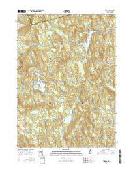 Deering New Hampshire Current topographic map, 1:24000 scale, 7.5 X 7.5 Minute, Year 2015