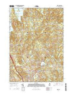 Derry New Hampshire Current topographic map, 1:24000 scale, 7.5 X 7.5 Minute, Year 2015 from New Hampshire Map Store