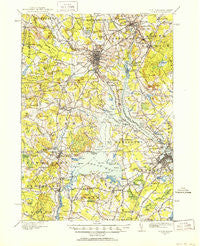 Dover New Hampshire Historical topographic map, 1:62500 scale, 15 X 15 Minute, Year 1916