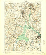 Dover New Hampshire Historical topographic map, 1:62500 scale, 15 X 15 Minute, Year 1918
