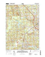 Dover West New Hampshire Current topographic map, 1:24000 scale, 7.5 X 7.5 Minute, Year 2015 from New Hampshire Map Store
