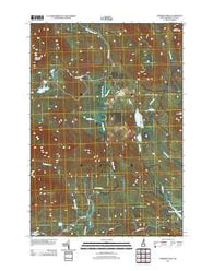 Dummer Ponds New Hampshire Historical topographic map, 1:24000 scale, 7.5 X 7.5 Minute, Year 2012