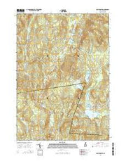 East Lempster New Hampshire Current topographic map, 1:24000 scale, 7.5 X 7.5 Minute, Year 2015 from New Hampshire Maps Store