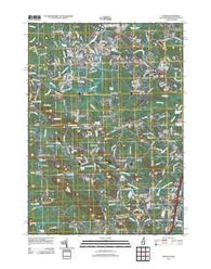 Exeter New Hampshire Historical topographic map, 1:24000 scale, 7.5 X 7.5 Minute, Year 2012