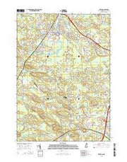 Exeter New Hampshire Current topographic map, 1:24000 scale, 7.5 X 7.5 Minute, Year 2015 from New Hampshire Maps Store