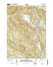 Franklin New Hampshire Current topographic map, 1:24000 scale, 7.5 X 7.5 Minute, Year 2015 from New Hampshire Maps Store