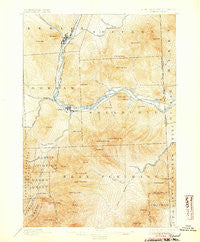 Gorham New Hampshire Historical topographic map, 1:62500 scale, 15 X 15 Minute, Year 1893