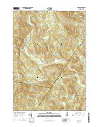 Grafton New Hampshire Current topographic map, 1:24000 scale, 7.5 X 7.5 Minute, Year 2015