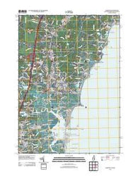 Hampton New Hampshire Historical topographic map, 1:24000 scale, 7.5 X 7.5 Minute, Year 2012
