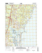 Hampton New Hampshire Current topographic map, 1:24000 scale, 7.5 X 7.5 Minute, Year 2015 from New Hampshire Map Store