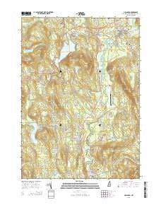 Hillsboro New Hampshire Current topographic map, 1:24000 scale, 7.5 X 7.5 Minute, Year 2015