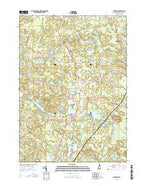 Kingston New Hampshire Current topographic map, 1:24000 scale, 7.5 X 7.5 Minute, Year 2015 from New Hampshire Map Store