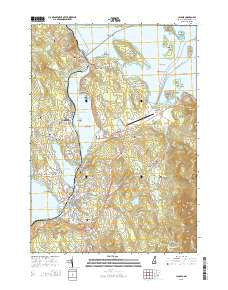 Laconia New Hampshire Current topographic map, 1:24000 scale, 7.5 X 7.5 Minute, Year 2015