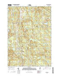 Loudon New Hampshire Current topographic map, 1:24000 scale, 7.5 X 7.5 Minute, Year 2015