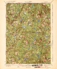 Lovewell Mountain New Hampshire Historical topographic map, 1:62500 scale, 15 X 15 Minute, Year 1942