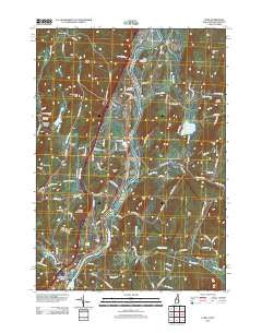 Lyme New Hampshire Historical topographic map, 1:24000 scale, 7.5 X 7.5 Minute, Year 2012