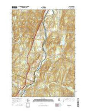 Lyme New Hampshire Current topographic map, 1:24000 scale, 7.5 X 7.5 Minute, Year 2015 from New Hampshire Maps Store