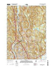 Manchester North New Hampshire Current topographic map, 1:24000 scale, 7.5 X 7.5 Minute, Year 2015 from New Hampshire Maps Store