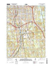 Manchester South New Hampshire Current topographic map, 1:24000 scale, 7.5 X 7.5 Minute, Year 2015 from New Hampshire Maps Store