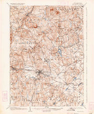 Milford New Hampshire Historical topographic map, 1:62500 scale, 15 X 15 Minute, Year 1906