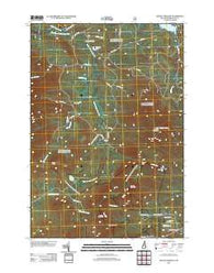 Mount Crescent New Hampshire Historical topographic map, 1:24000 scale, 7.5 X 7.5 Minute, Year 2012